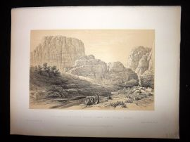 David Roberts Holy Land 1887 The Acropolis (Kusr Faron) Lower End of the Valley